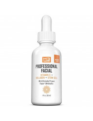 M3 Naturals Professional Facial Vitamin C Infused with Collagen Stem Cell and Patented Fision Wrinkle Fix Help Lift Firm and Plump Face and Under Eye All Natural Anti Aging Skin Care 1 fl oz