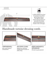 """GBS Premium Anti-Static Hand Made Coarse/Fine Toothed Dressing, Grooming, and Styling Comb for Men/Women, 7"""""""