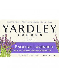 Yardley London English Lavender with Essential Oils Soap Bar, 4.25 oz Bar (Pack of 2)