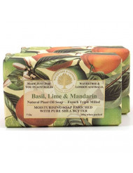 Wavertree & London Natural Plant Oil French Triple Milled Moisturizing Soap with Pure Shea Butter 7 oz each Basil, Lime & Mandarin (2-Pack)