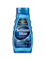 Selsun Blue Active 3-in-1 Dandruff Shampoo 11 Ounce (Pack of 3)