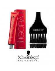 Schwarzkopf Professional Igora Royal Permanent Hair Color (with Sleek Tint Brush) (6-77 Dark Blonde Cooper Extra) Dye