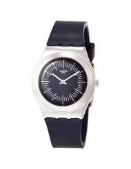 Swatch Womens Analogue Quartz Watch with Rubber Strap YLS202