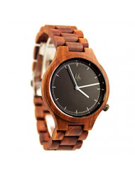 Unisex Redwood Watches with Round Sandal Wood Face,Rosewood Watch, Best Wooden Watches