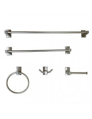 """Kingston Brass BAHK8212478SN Continental Bathroom Accessory Set (5 Piece), 24"""" Length, Brushed Nickel"""