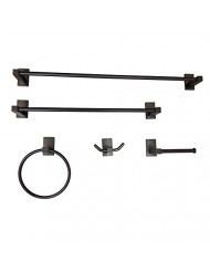 "Kingston Brass BAHK8212478ORB Continental Bathroom Accessory Set (5 Piece) 24"" Length Oil Rubbed Bronze"