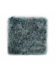 Moe's Home Collection Large Lamb Fur Pillow in Teal