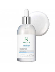 [AMPLE:N] Hyaluron Shot Ampoule 3.38 fl. oz. (100ml) - Hyaluronic Acid & Xylitol Complex Contained, Powerful Hydrating Skin Care Ampoule for Dry and Rough Skin