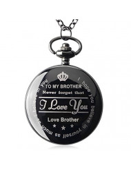 Brother Gifts for Birthday or Anniversaries Graduation Novelty Gift to Big Brother from Brother or Sister Engraved Pocket Watch with Gift Box for Men (Love Brother Black)