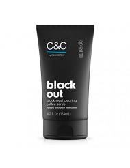 C&C by Clean & Clear Black Out Blackhead Clearing Coffee Facial Scrub with Salicylic Acid, Oil-Free Exfoliating Face Wash for Acne Prone Skin, Not Tested on Animals, 4.2 fl. oz.