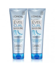 L'Oreal Paris EverCurl HydraCharge Shampoo Sulfate Free, 8.5 Fluid Ounce (Pack of 2)