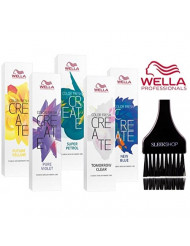 Wella COLOR FRESH CREATE Semi Permanent Shades Hair Color (with Sleek Tint Brush) (Pure Violet)
