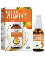 Pharm to Skin Brightening Vitamin C Beauty Oil with Natural Rosehip & Argan Oil, Minimize Appearance of Dark Spots and Fine Lines for all Skin Types 1oz/30ml