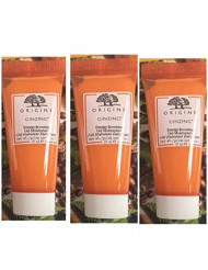 Origins GinZing Energy-Boosting Gel Moisturizer ~ Travel Size Trio ~ 0.5 fl oz each/total 1.5 fl oz