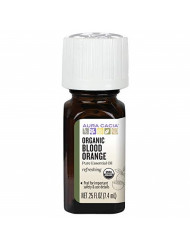 Aura Cacia Certified Organic Pure Blood Orange Essential Oil, Purity Tested | 0.25 fl. oz. | Citrus sinensis