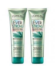 L'Oreal Paris Hair Care EverStrong Sulfate Free Thickening Shampoo, with Rosemary Leaf, 2 Count (8.5 Fl. Oz each)