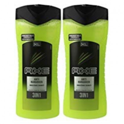 Axe XL Anti Hangover 3-in-1 Body Hair and Face Wash, 400 Ml/13.5 Oz (Pack of 2)