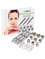 [Upgrade Version] Diamond Microdermabrasion Dermabrasion Replacement Accessories 3 Wands 9 Tips Cotton Filter for Facial Peeling Face Skin Care Salon Beauty Machine Equipment
