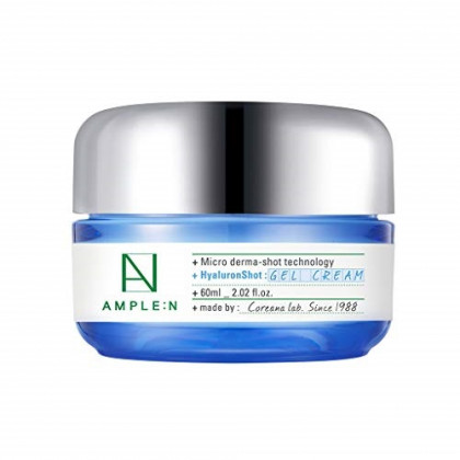 [AMPLE:N] Hyaluron Shot Gel Cream 2.02 fl. oz. (60ml) - Long Lasting Moisture Relief for Extra Dry Skin, Ampoule Drop Fresh Gel Texture Daily Hydrating Cream