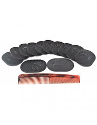 GBS Shower Palm Brush for Men GBS 12pcs of Portable Hair Brushes Shampoo Beard Pocket Comb Scalp Massager Brush for Travel, Short Hair Dog Cat Pet Grooming Brush Set