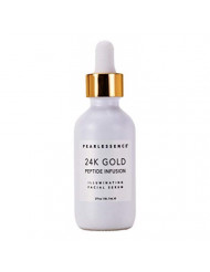 Pearlessenece 24k Gold Peptide Infusion Illuminating Facial Serum - Moisturizes and Helps Repair, Revitalize, and Brighten Skin for a Radiant, Youthful Glow | Made in USA