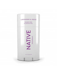 Native Deodorant - Natural Deodorant - Vegan, Gluten Free, Cruelty Free - Free of Aluminum, Parabens & Sulfates - Born in the USA - Lavender & Rose