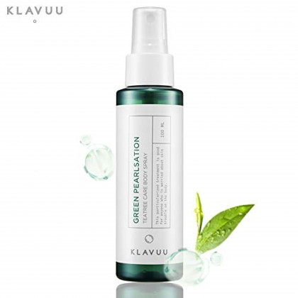 Pure PearlSation Tea Tree Body Spray - Cleansing Mist Lotion for Sensitive Skin, Purifies Oily Skin and Acne with Pearl Extract, 100 ml