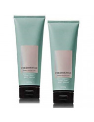 Bath and Body Works Men's Collection Freshwater Ultra Shea Body Cream 8 Oz. 2 Pack.