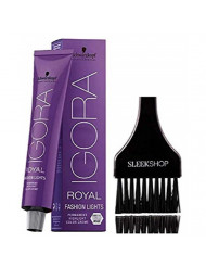 Schwarzkopf IGORA Royal FASHION LIGHTS Permanent HIGHLIGHT Hair Color Creme (with Sleek Tint Applicator Brush) Haircolor Cream (L-77)