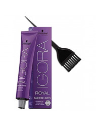 Schwarzkopf IGORA Royal FASHION LIGHTS Permanent HIGHLIGHT Hair Color Creme (with Sleek Tint Applicator Brush) Haircolor Cream (L-00)