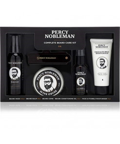 Complete Beard Care Kit by Percy Nobleman. A Beard Grooming Kit Giftset