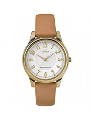 Timex Women's Year-Round Quartz Watch with Leather Strap, Brown, 16 (Model: TW2R87000)