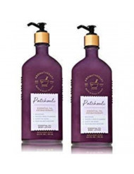 Bath and Body Works 2 Pack Aromatherapy Essential Oil Body Lotion 6.5 Oz. Patchouli.