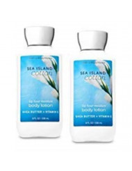 Bath and Body Works 2 Pack Sea Island Cotton Super Smooth Body Lotion 8 Oz