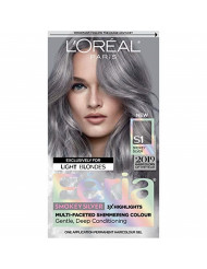 L'oreal Paris Hair Color Feria Multi-faceted Shimmering Permanent Coloring, Smokey Silver, Pack of 1