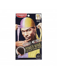 RED by KISS POWER WAVE DUO COLOR FASHION SATIN Durag (HDUPPD04-PURPLE YELLOW)