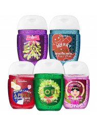 Bath and Body Works Holiday Favorites 5-Pack PocketBac Hand Sanitizers (Vanilla Bean Noel, Winter Candy Apple, Twisted Peppermint, Merry Berry Kiss, Merry Cookie)