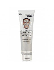 SpaScriptions CHARCOAL + VOLCANIC ASH + KAOLIN CLAY METALLIC Wash-Off Face Mask