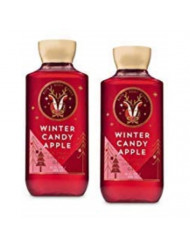 Bath and Body Works 2 Pack Winter Candy Apple Shower Gel 10 Oz.