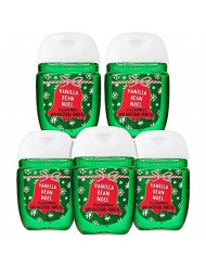 Bath and Body Works Vanilla Bean Noel 5-Pack PocketBac Hand Sanitizers (2018 Edition)