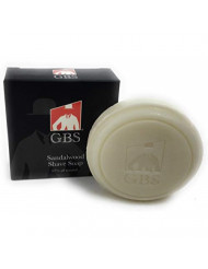 GBS 97% Sandalwood All Natural Shave Soap -Made with Shea Butter and Glycerin - Made in the USA - Creates a Rich Lather Foam for Ultimate Wet Shaving Experience