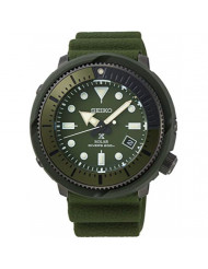 SEIKO Prospex Street Sports Solar Diver's 200M Green Dial with Silicone Band Watch SNE535P1