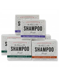 J.R. Liggett's Old Fashioned Shampoo Bar 3.5 Ounces Variety 3 Pack - 2 Of Each Flavor