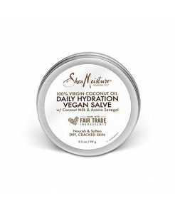 SheaMoisture 100% virgin coconut oil daily hydration dry skin vegan salve moisturizer, 3.5 Ounce