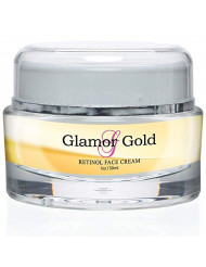 Glamor Gold Retinol Face Cream - Anti Aging Day/Night Cream - Reduce Appearance of Fine Lines and Wrinkles - Lasting Results - Great for All Skin Types - 1oz/30ml