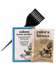 Colora HENNA POWDER Natural Organic Haircolor, Hair Color Dye Conditioner & Thickener with Plants, Water, and No Chemicals (w/Sleek Brush) 2 oz. (Burgundy - 2 oz)