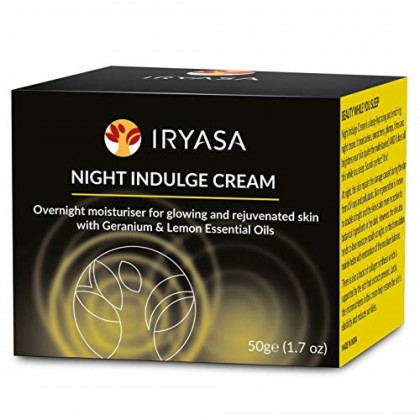 Iryasa Night Indulge Cream - All Natural Face Cream for Dry Skin - Vegan Anti Aging Night Cream for Women and Men - Firming Cream for Face and Neck - Organic Vitamin C Moisturizer for Face - 1.7oz