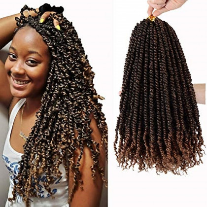Pre-twisted Passion Twist Crochet Hair 18 Inch fluffy twist hair 6 Packs Crochet Twist Hair Extensions 20 stands/Pack for Passion Twisted Hair T30