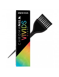 Pravana ChromaSilk VIVIDS NEONS Hair Color Shades with Silk & Keratin Amino Acids Dye (with Sleek Brush) Haircolor (NEON ORANGE)