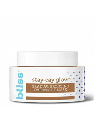 Bliss Stay-Cay Glow Gradual Bronzing Overnight Face Mask for a Natural-Looking, Glowing Tan, Coconut Scented, Cruelty-Free & Vegan, 1.7 oz